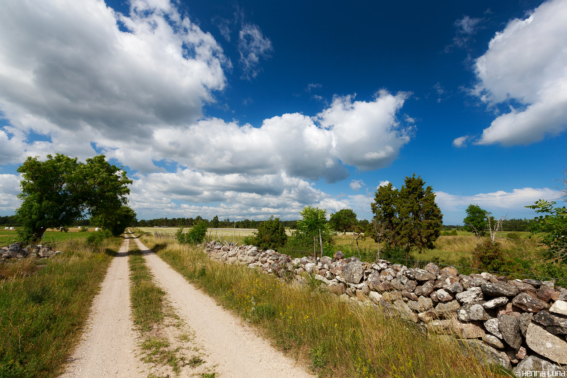 A very typical view from the fields in Gotand, Sweden, July, 2013.