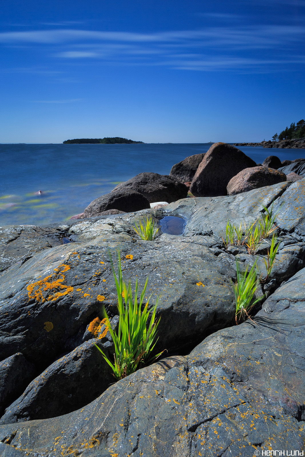 A view to SE from the old pilot watchout in Pellinge, Borgå, Finland, June 2014.