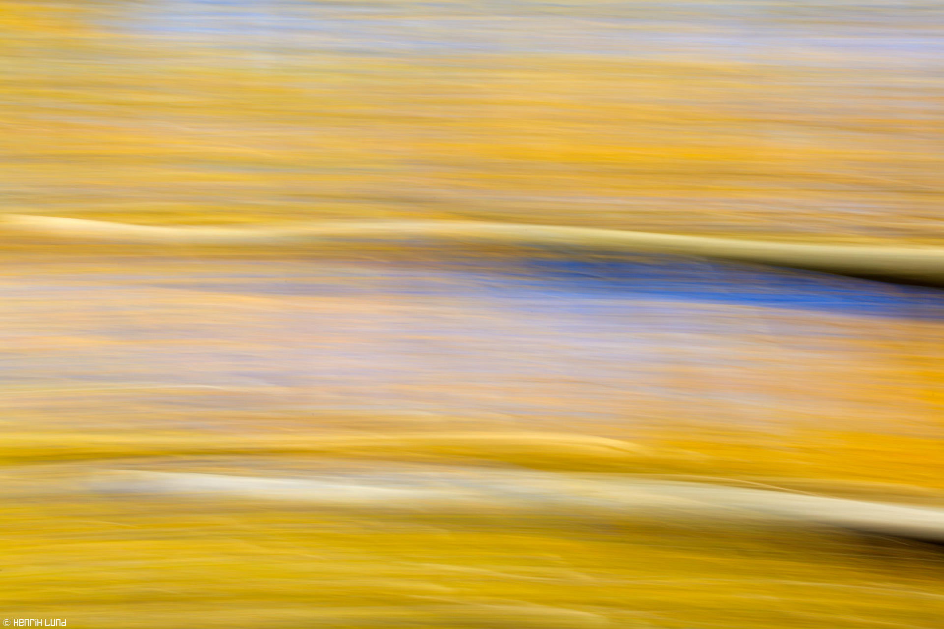 Panning technique used to catch the bright autumn colors. Lappträsk, Finland, October, 2015.