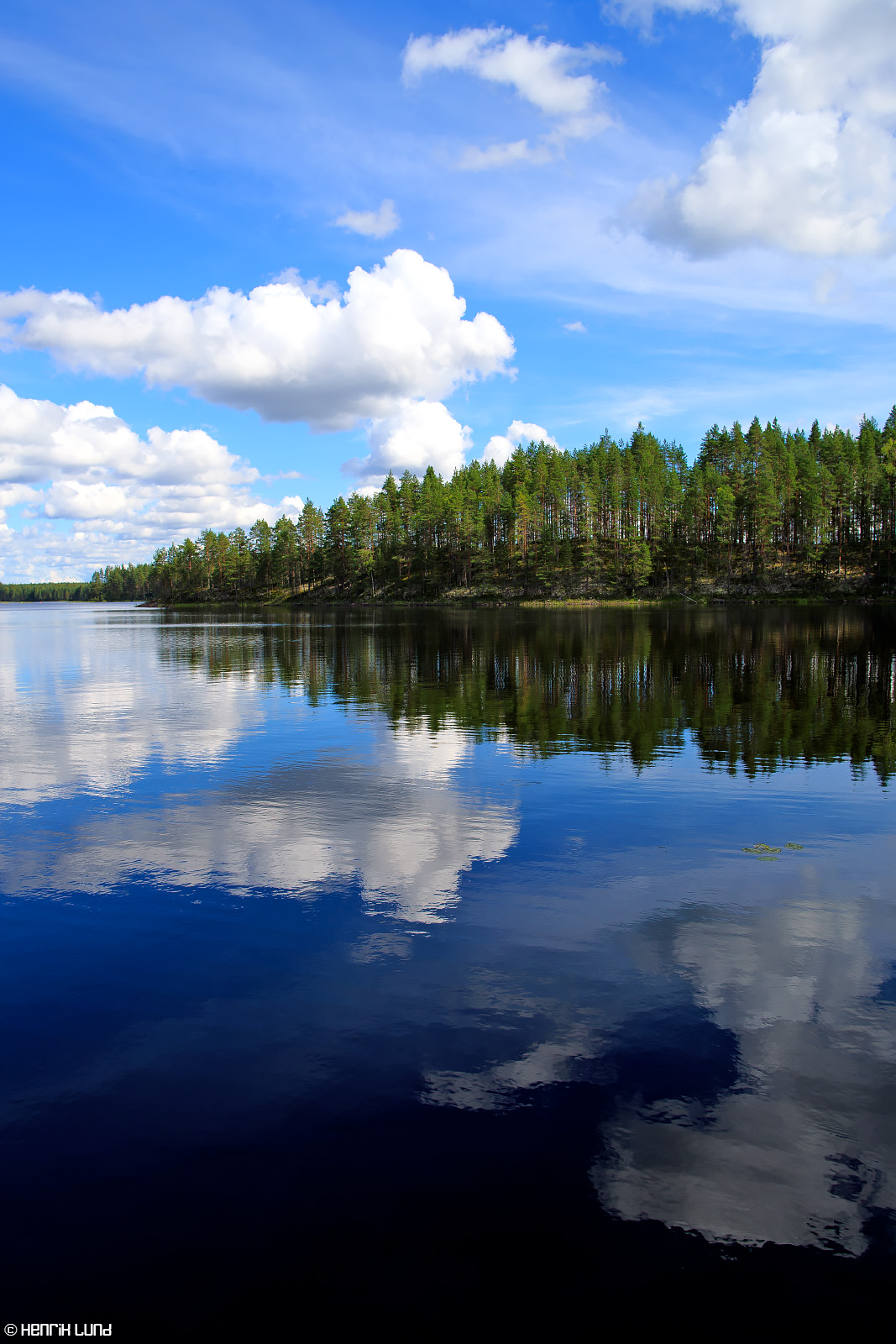 Seaview over Valkiajärvi at Petkeljärvi National park in Ilomantsi, Finland. August, 2016.