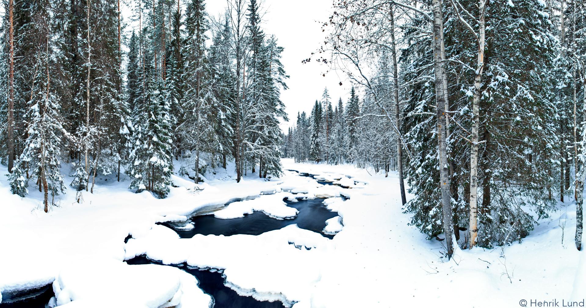 View over Vekarus, Joensuu, Finland. February 2017.