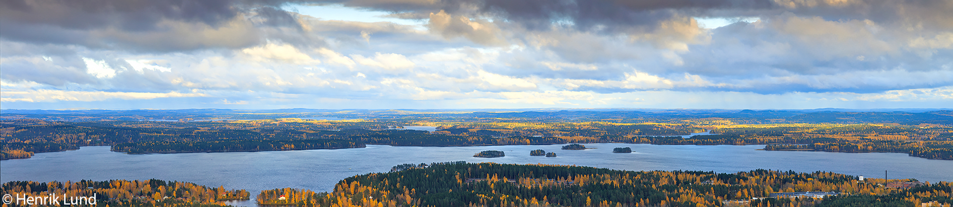 Panorama over Kuopio and Kallavesi. October 2017.