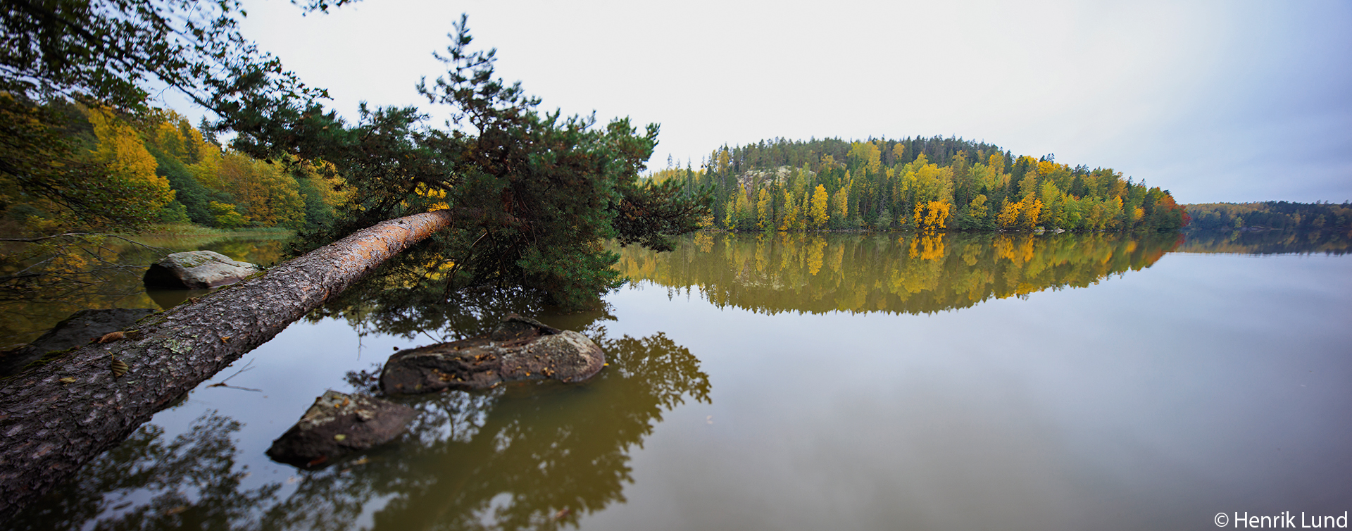 TS-E panorama at Kirkkojärvi in Myrskylä, Finland. September 2017.